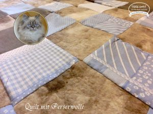 Quilt mit Katzenwolle