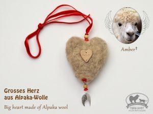 Herz mit Alpaka Wolle