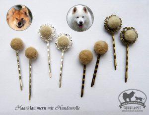 07 Haarklammern Hundewolle