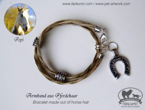 10 Wickelarmband aus Schwiefhaar