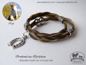09 Wickelarmband aus Schweifhaar