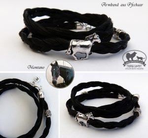 12 Wickelarmband aus Pferdehaaren