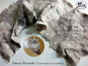Schal aus Katzenwolle