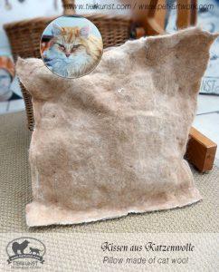 Kissen aus Katzenwolle