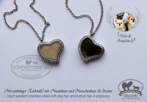 Herzen mit Chihuahuawolle