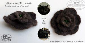 01 Blüten Brosche aus Katzenwolle