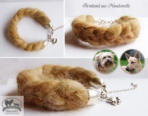 07 Armband geflochten aus Hundewolle