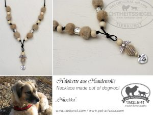 15 Halskette aus Hundewolle