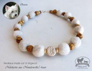 18 Halskette aus Hundewolle