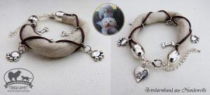 08 Bettelarmband aus Hundewolle