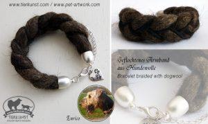 05 Armband geflochten aus Hundewolle