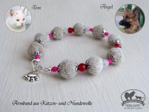 18 Armband aus Katzenwolle