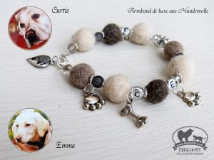 06 Armband de luxe aus Hundewolle
