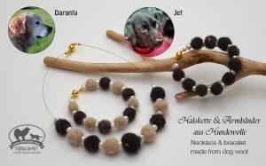 02 Halskette & Armband aus Hundewolle