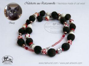 08 Halskette aus Katzenwolle
