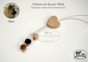 06 Schlichte Halskette aus Hundewolle