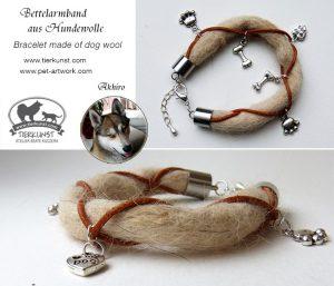 01 Bettelarmband aus Huskywolle