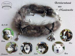 11 Geflochtenes Armband aus Huskywolle