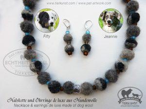 10 Halskette aus Hundewolle