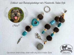10 Schlüsselanhänger aus Hundewolle