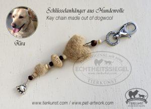 31 Schlüsselanhänger aus Hundewolle