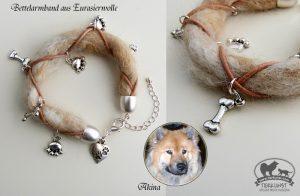 09 Bettelarmband aus Hundewolle
