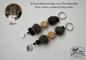 03 Schlüsselanhänger aus Hundewolle