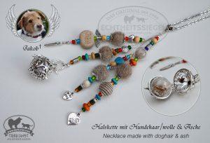 05 Halskette aus Hundewolle