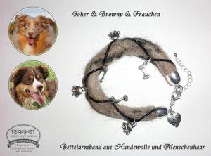 12 Bettelarmband aus Hundewolle