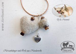 19 Halskette aus Hundewolle