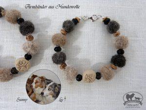 17 Armbänder aus Hundewolle