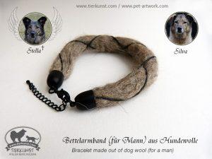 02 Bettelarmband aus Hundewolle