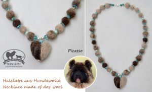 03 Halskette aus Hundewolle