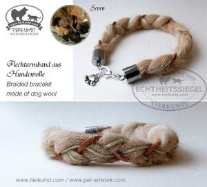 01 Geflochtenes Armband aus Hundewolle