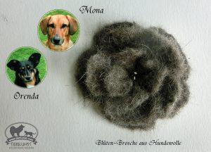 06 Blütenbrosche aus Hundewolle