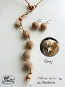 21 Halskette aus Hundewolle