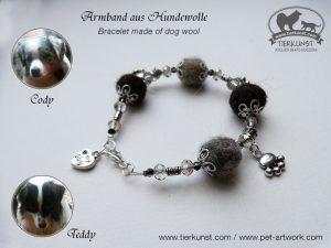 04 Armband de luxe aus Hundewolle