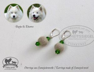 03 Ohrringe aus Samojedenwolle
