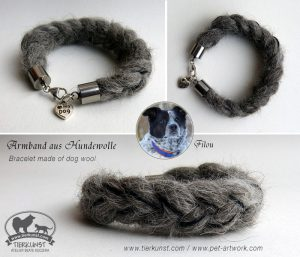 02 Armband geflochten aus Hundewolle