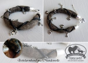 11 Bettelarmband aus Hundewolle