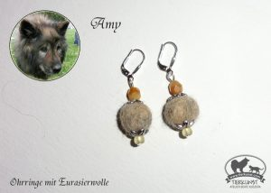 26 Ohrringe aus Eurasierwolle