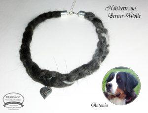 10 Geflochtene Halskette aus Bernersennen Wolle